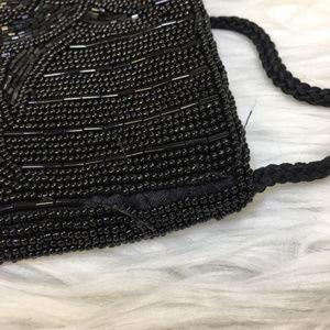 Valerie Stevens Bags - Valerie Stevens Black Beaded Evening Bag